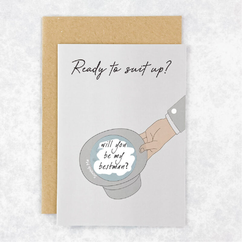 Will you be my Groomsman Reveal Card
