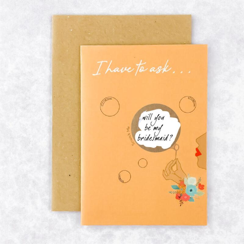 Bridesmaid Reveal Card