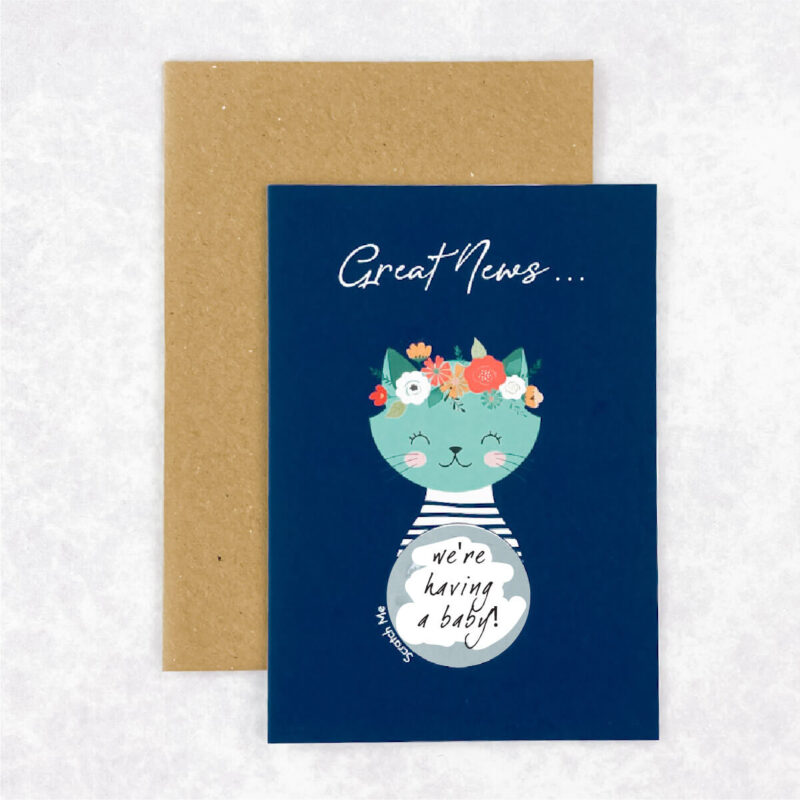 Baby Announcement Reveal Card