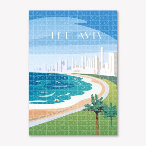 Tel Aviv-Art-Puzzle-Cityscape