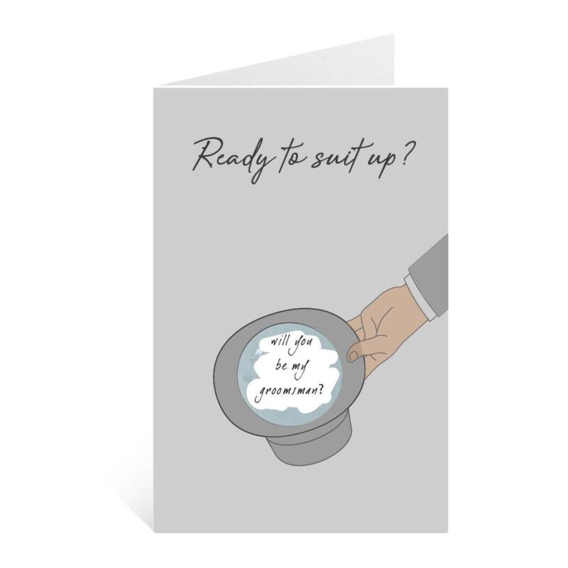 be my groomsman proposal card